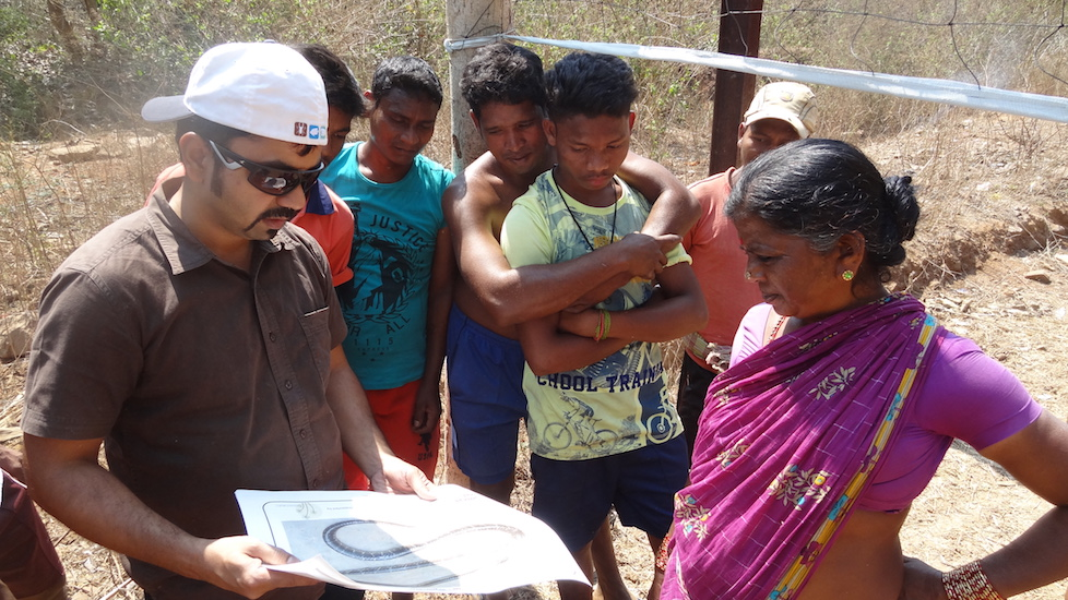 Semi-structured interviews in villages to understand the conflict and snake species distribution